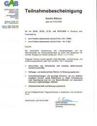 Fachkundennachweis nach § 9 Abs. 2 Nr. 3 EfbV